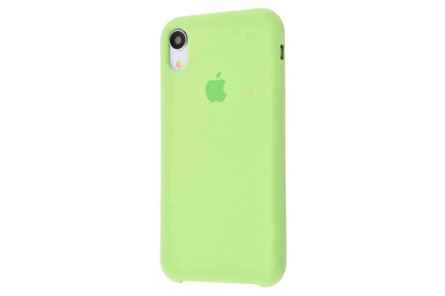 Силиконовый чехол Apple iPhone Xr Silicone Case OEM Mint Gum