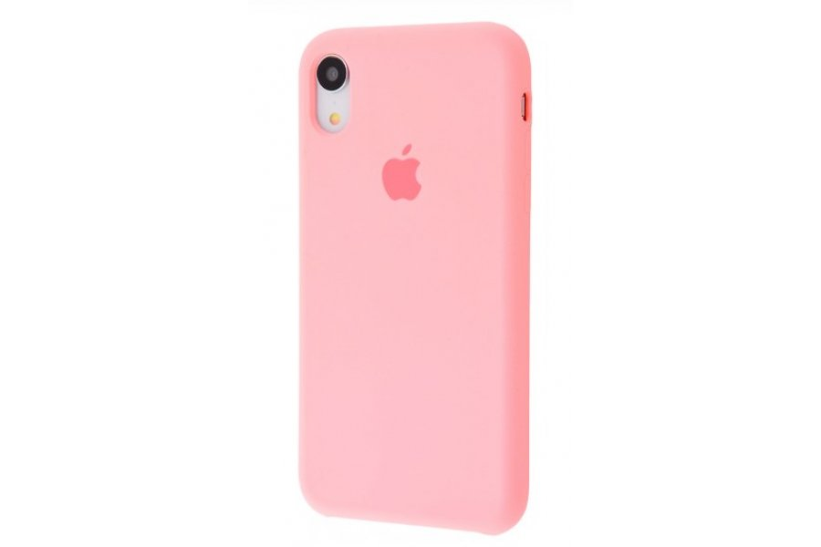 Силиконовый чехол Apple iPhone Xr Silicone Case OEM Pink