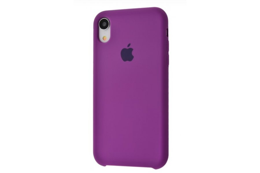 Силиконовый чехол Apple iPhone Xr Silicone Case OEM Purple