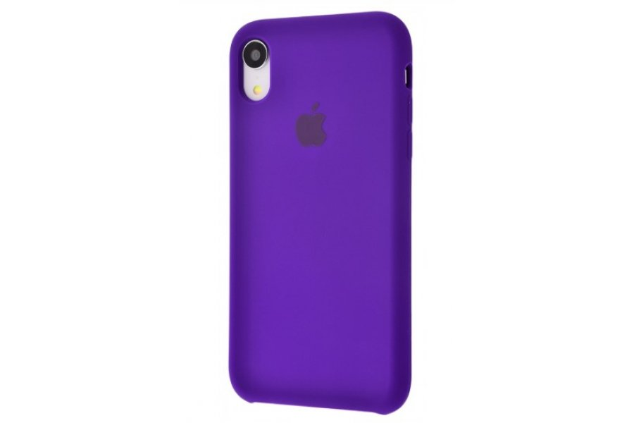 Силиконовый чехол Apple iPhone Xr Silicone Case OEM Ultra Violet