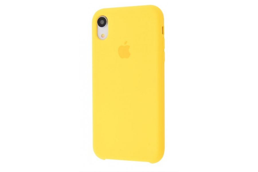 Силиконовый чехол Apple iPhone Xr Silicone Case OEM Yellow