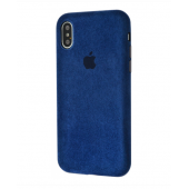 Чехол Alcantara 360 Protect для iPhone Xs Max Midnight Blue