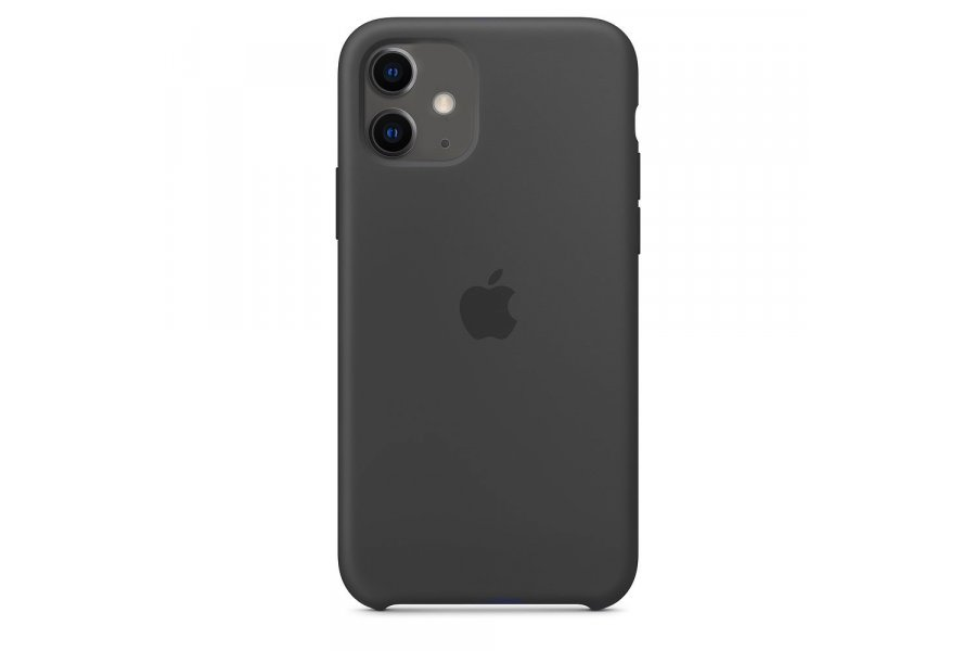 Силиконовый чехол Apple iPhone 11 Silicone Case OEM Black