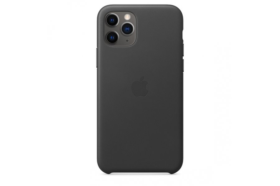 Кожаный чехол Apple Leather Case для iPhone 11 Pro Black