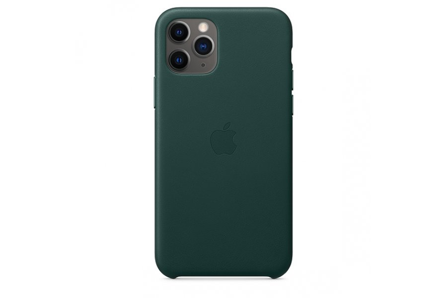 Кожаный чехол Apple Leather Case для iPhone 11 Pro Forest Green