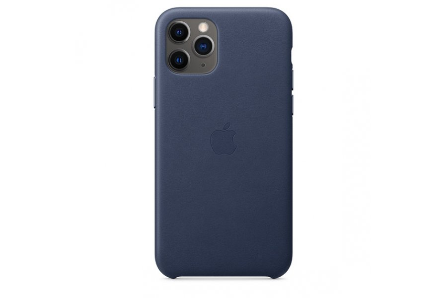Кожаный чехол Apple Leather Case для iPhone 11 Pro Max Midnight Blue