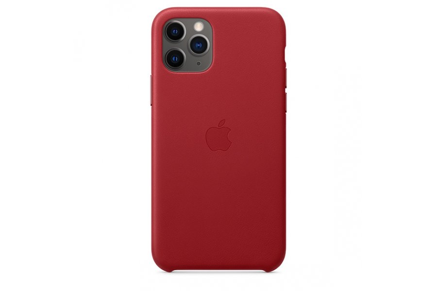 Кожаный чехол Apple Leather Case для iPhone 11 Pro Max Red