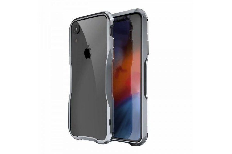 Бампер Luphie Ultra Luxury для iPhone XR Silver Grey