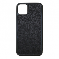 Чехол Leather iPhone 11 Pro Max Black