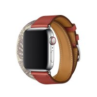 Ремешок для Apple Watch 42/44mm Hermes Double Tour Brique/Beton