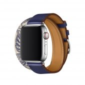Ремешок для Apple Watch 38/40mm Hermes Double Tour Encre/Beton