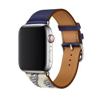 Ремешок для Apple Watch 42/44mm Hermes Single Tour Encre/Beton