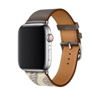 Ремешок для Apple Watch 38/40mm Hermes Single Tour Etain/Beton