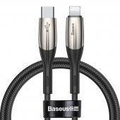 Зарядный кабель Baseus Horizontal Data Cable Type-C to Lightning Black