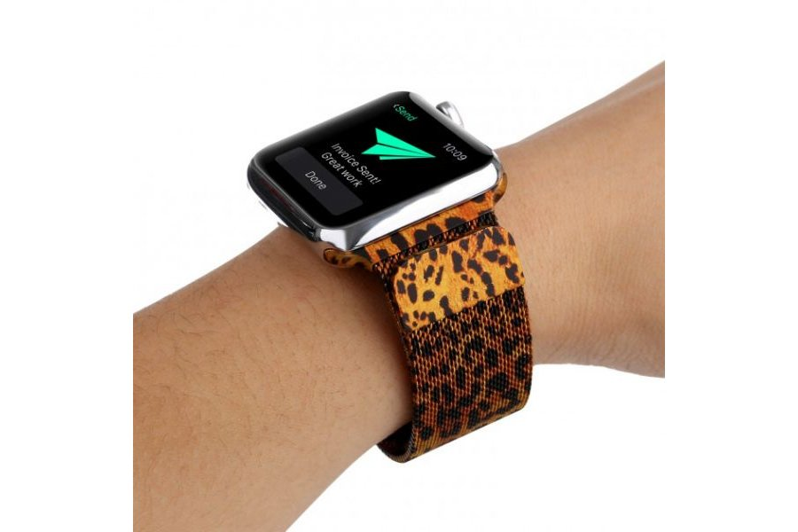 Браслет Apple Watch 38/40mm Milanese Loop (magnetic) Leopard