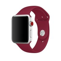 Ремешок Silicone Band для Apple Watch 38/40/42/44mm Rose Red