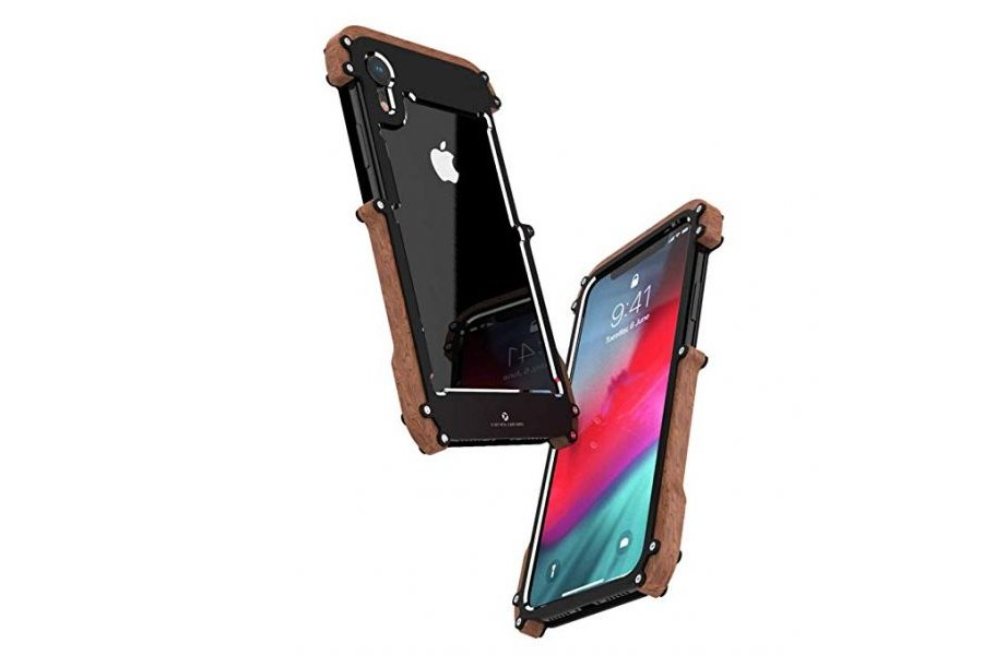 Бампер R-JUST Wood Frame Bumper Metal для iPhone XR
