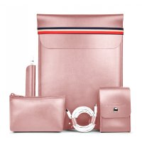 Чехол WiWU 5в1 Elite Protect Set для Macbook Air/Pro 13 Pink