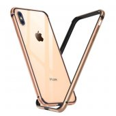 Бампер Silicone-Aluminium для iPhone Xs Max Gold