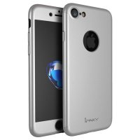 Чехол пластиковый iPhone 7.7 plus/ 8.8 plus IPAKY 360 Full Silver