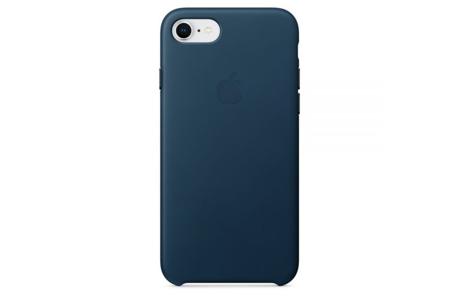 Кожаный чехол Apple Leather Case Cosmos Blue для iPhone 7/8