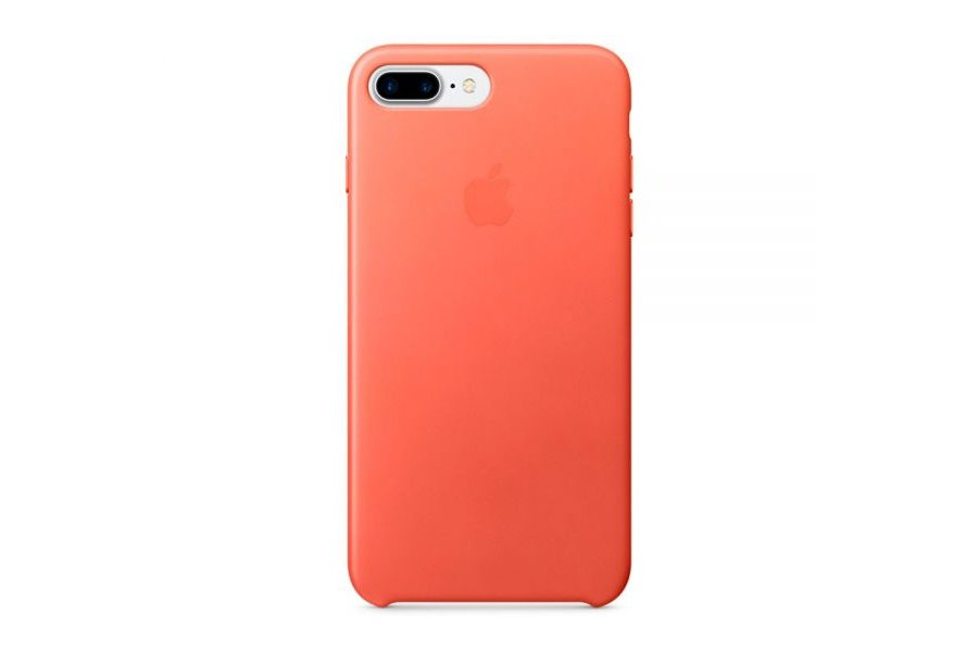 Кожаный чехол Apple Leather Case Geranium для iPhone 7/8 Plus