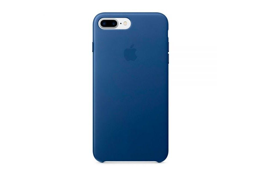 Кожаный чехол Apple Leather Case Sapphire для iPhone 7/8 Plus
