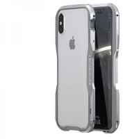 Бампер Luphie Ultra Luxury для iPhone XS Max Silver
