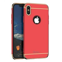 Чехол матовый iPaky Red Full Cover For iPhone X/XS / iPhone 10
