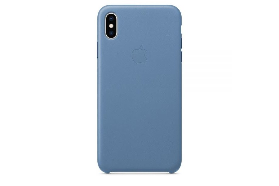 Кожаный чехол Apple Leather Case для iPhone XS Max Cornflower