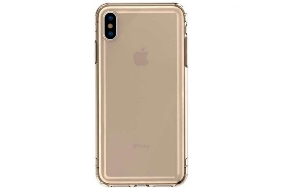 Чехол Baseus Safety Airbags Case for iPhone Xs Max Transparent Gold