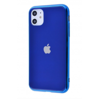 Чехол Glass iPhone case для iPhone 11 Blue