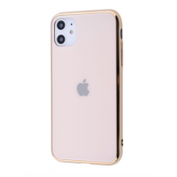 Чехол Glass iPhone case для iPhone 11 Gold