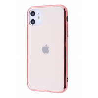 Чехол Glass iPhone case для iPhone 11 Rose Gold