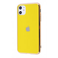 Чехол Glass iPhone case для iPhone 11 Yellow