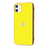 Чехол Silicone iPhone case для iPhone 11 Yellow