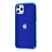 Чехол Glass iPhone case для iPhone 11 Pro Max Blue