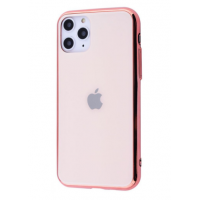 Чехол Glass iPhone case для iPhone 11 Pro Max Rose Gold