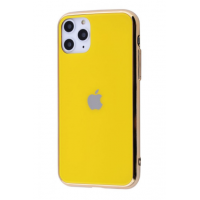 Чехол Glass iPhone case для iPhone 11 Pro Max Yellow