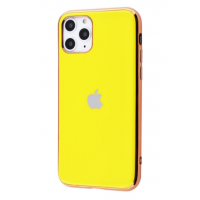 Чехол Silicone iPhone case для iPhone 11 Pro Max Yellow