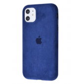 Чехол Alcantara 360 Protect для iPhone 11 Midnight Blue