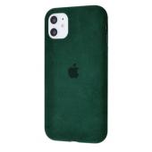 Чехол Alcantara 360 Protect для iPhone 11 Midnight Green