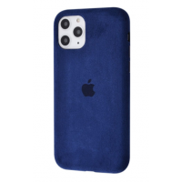 Чехол Alcantara 360 Protect для iPhone 11 Pro Max Midnight Blue