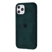 Чехол Alcantara 360 Protect для iPhone 11 Pro Max Midnight Green