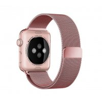 Ремешок Apple Watch 38/40mm with Milanese Loop (magnetic) Rose Pink