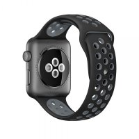 Ремешок Silicone with Black/Cool Gray Nike for Apple Watch 42/44mm