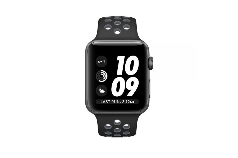 Ремешок Silicone with Black/Cool Gray Nike for Apple Watch 38/40mm