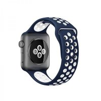 Ремешок Silicone with Blue/White Nike for Apple Watch 42/44mm