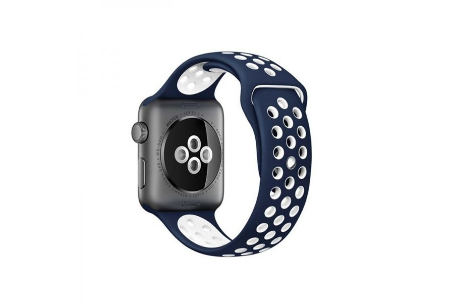 Ремешок Silicone with Blue/White Nike for Apple Watch 38/40mm