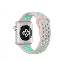 Ремешок Silicone with Pink/Green Nike for Apple Watch 38/40mm